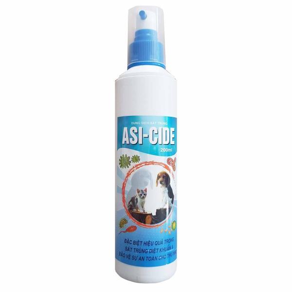 Chai xịt làm sạch mùi hôi diệt khuẩn, Diệt mầm bênh, sát trùng không gian -Asi cide 200ml