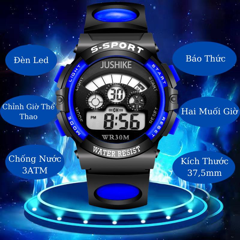 [HCM]Đồng hồ trẻ em thể thao cho Bé Đồng hồ bé trai và bé gái không thấm nước và có đèn led dạ quang Đồng hồ điện tử trẻ tiểu học và trung học - Kiwi xanh - màu sắc tuỳ chọn