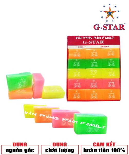 Mua Bộ 30 cục gôm dạ quang siêu đẹp E-306 G-STAR được làm bằng cao su tự nhiên, dẻo dai, có độ đàn hồi tốt