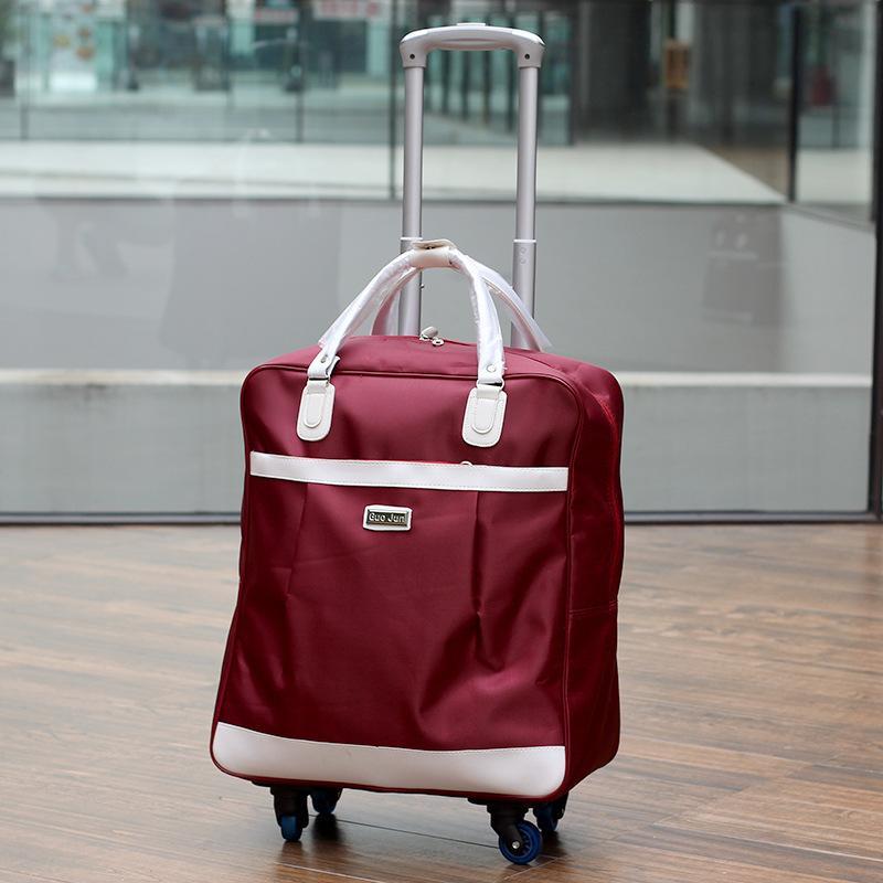 Roda Universal Tas koper Tas Tamasya wanita genggam tas kabin Tahan Air Jarak Pendek tas bepergian