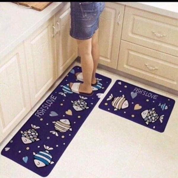 (Bộ 2 tấm)Thảm trải, thảm chùi chân nhà bếp-Thảm bếp chống trượt-Thảm sàn nhà bếp, phòng ngủ-Thảm bếp 3D chống trơn trượt.GIAO MÀU NGẪU NHIÊN