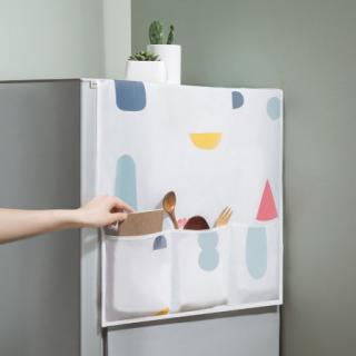 Tấm Phủ Tủ Lạnh, Áo Phủ Tủ Lạnh Có Túi Loại DÀY ĐẸP, Chống Thấm Cao Cấp