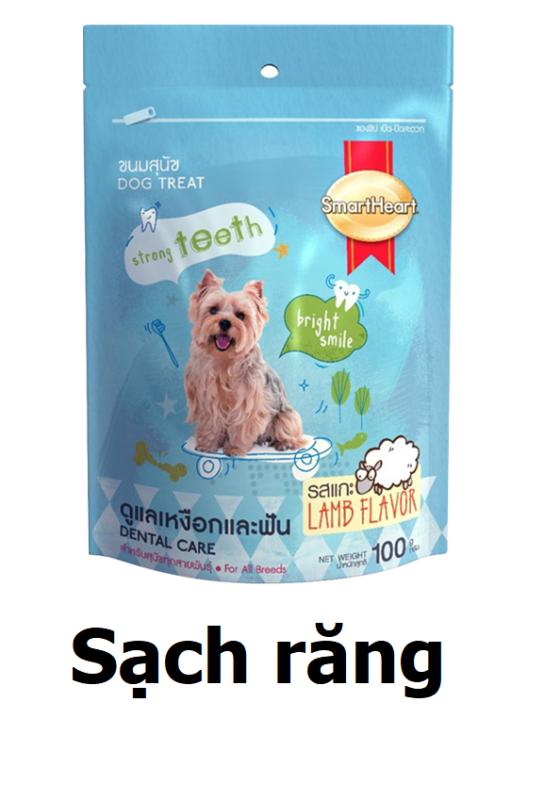 Bánh thưởng cho chó mèo (3 loại) SmartHeart 100gr Sạch răng chắc xương dưỡng lông thức ăn chó mèo đồ ăn vặt thú cưng