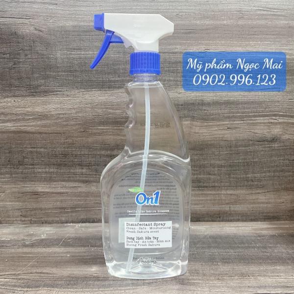 Xịt khuẩn ON1 dung dịch rửa tay khô lưu giữ hương thơm rất tốt êm ái bảo vệ da tay 650ml