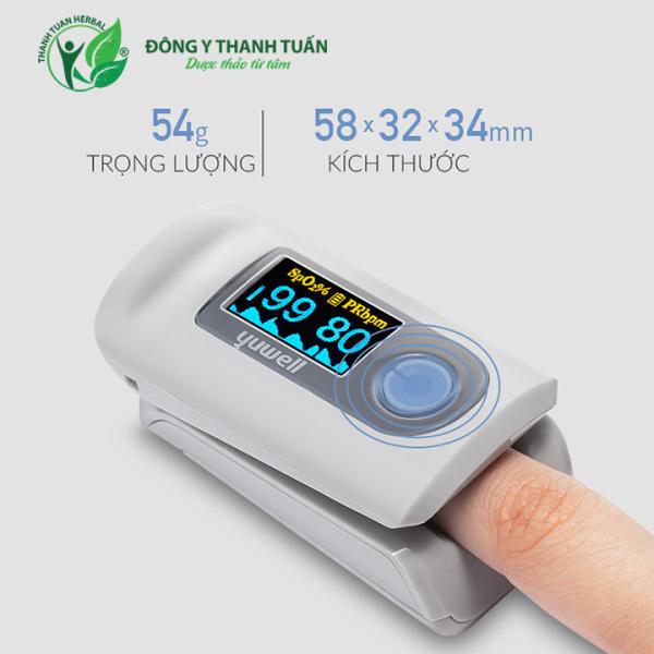 Máy đo nồng độ Oxy kẹp ngón tay Yuwell YX301 – Giúp kiểm tra nồng độ oxi trong máu cho người lớn, trẻ em và trẻ sơ sinh bán chạy