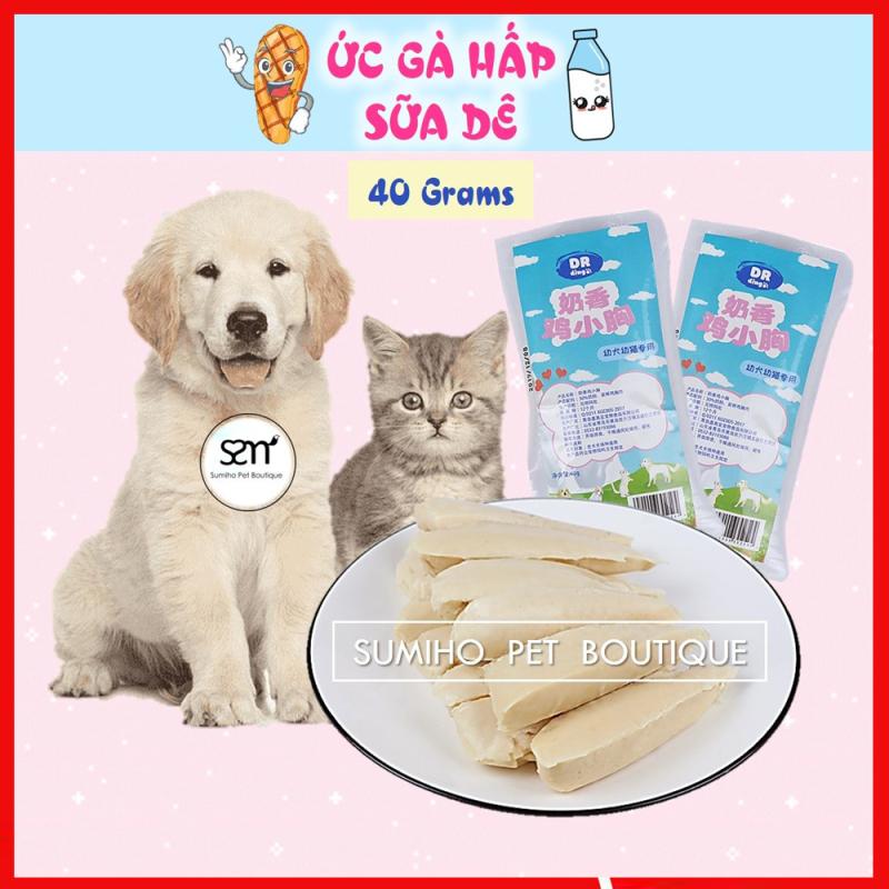 Đồ ăn tiện lợi cho chó mèo (Ức gà hấp sữa dê túi 40gr)