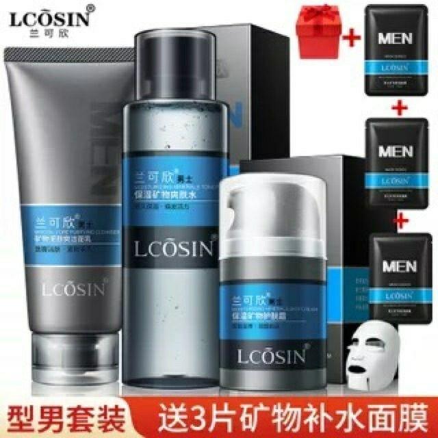 Bộ chăm sóc da Lcosin cho nam nhập khẩu