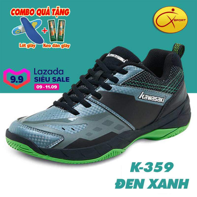 [Q-Sport] Giày cầu lông Kawasaki K-359 đế kếp, chống trơn, chống trượt, ôm chân, bền bỉ- Giày cầu lông nam- Giày bóng chuyền nam- giày thể thao nam