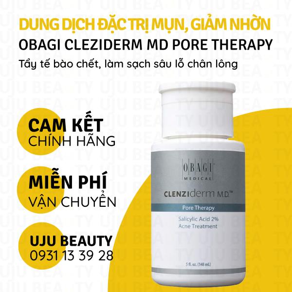 Toner BHA giảm mụn, nhờn Obagi Clenziderm MD Pore Therapy 148ml nhập khẩu