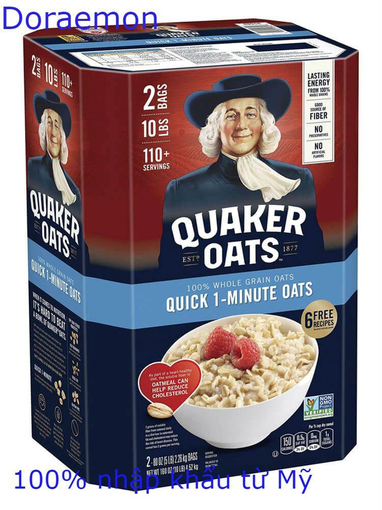 [MẪU MỚI]Yến Mạch Mỹ Quaker Oats Quick 1 Minute Thùng 4.52kg Giá Quá Tốt Phải Mua Ngay
