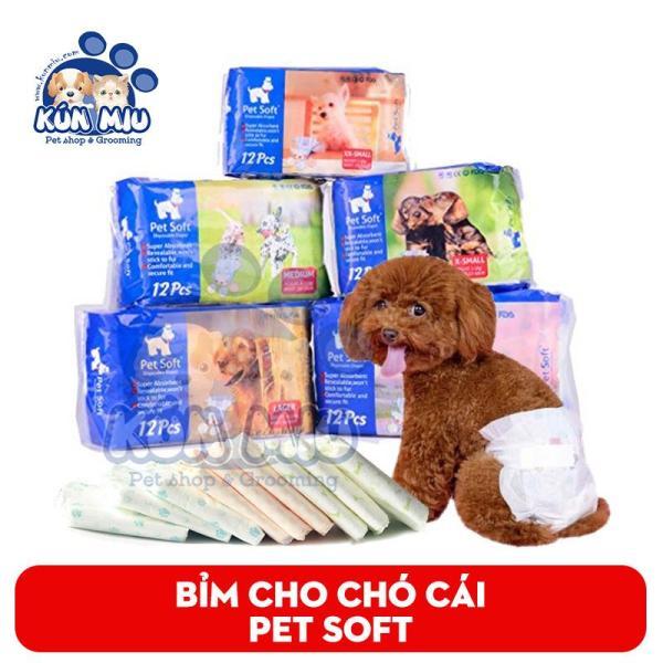 Bỉm Vệ Sinh Cho Chó 2 - 4 Kg Pet Soft - 1 Chiếc
