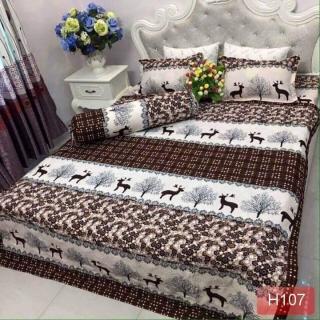 Trọn Bộ Chăn Ga Gối Combo 5 Món hình nai nâu đồ dùng phòng ngủ - bộ chăn ra gối nệm giường ngủ - drap ra 5 món bộ chăn ga vỏ gối Ga nệm gối phụ kiện giường ngủ - chăn nệm thumbnail