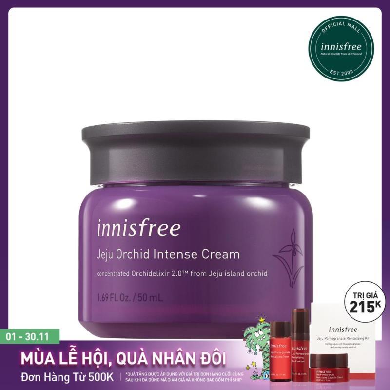 Kem dưỡng tăng cường dưỡng chất ngăn ngừa lão hóa sớm từ hoa lan Innisfree Jeju Orchid Intense Cream 50ml giá rẻ