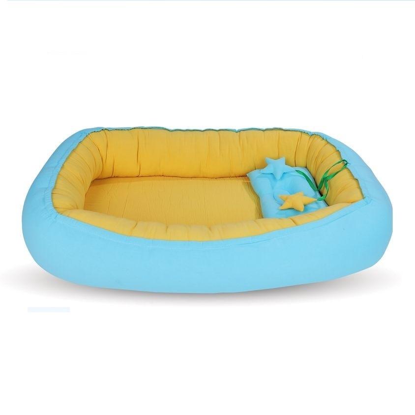 [Quà tặng không bán] Tổ Giường Cho Bé Cao Cấp (Màu vàng xanh)
