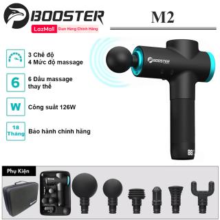 BOOSTER M2 - Máy massage gun toàn thân, Súng massage cầm tay cao cấp công nghệ Ai Booster M2 - Công suất 125W, 6 đầu, 3 chế độ mát xa - Hãng phân phối chính thức thumbnail