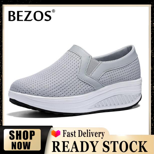 Giày Đế Xuồng BEZOS Cho Nữ, Giày Thể Thao Thường Ngày, Giày Thời Trang Ngoài Trời, Tăng Cỡ Lớn 35-43 giá rẻ