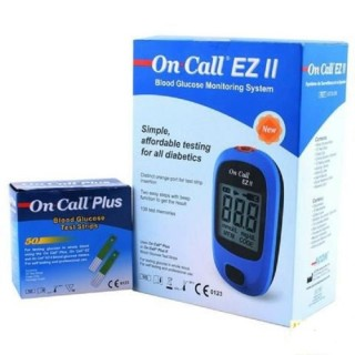Combo Máy Đo Đường Huyết On-Call EZ II (Kèm 25 Que Thử + 10 Kim) thumbnail