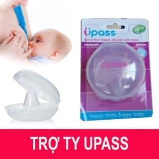 (Made in Thailand) Hộp 2 cái trợ ty silicon mềm hỗ trợ bé bú Upass UP1001N (sử dụng cho đầu ty nhọn) thumbnail