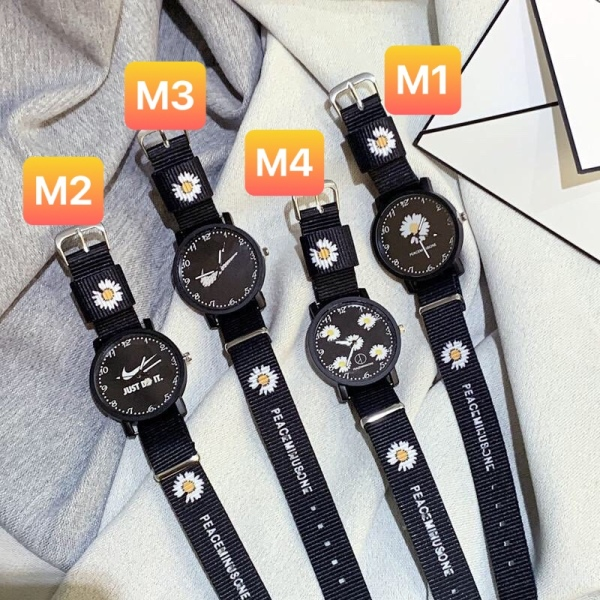 Nơi bán Đồng hồ thời trang nam nữ dây dù hoa cúc cá tính Ms012