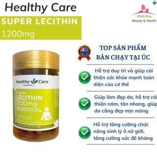 Mầm đậu nành Healthy Care Super Lecithin 1200mg, ChiBiShop HN, Cải thiện sức khỏe giúp làm đẹp da thumbnail