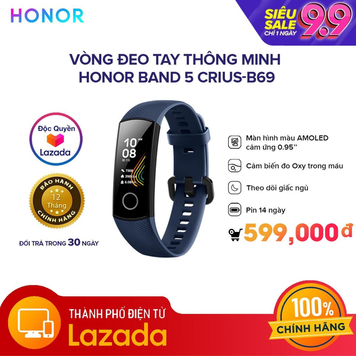 Vòng đeo tay thông minh Honor Band 5 CRIUS-B69 -...