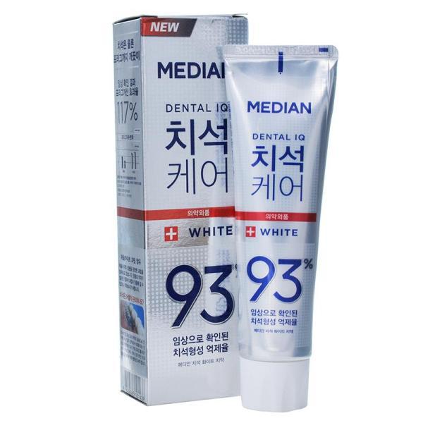 Kem Đánh Răng Làm Trắng Răng Gấp 5 Lần Median Dental IQ 93% White 120g giá rẻ