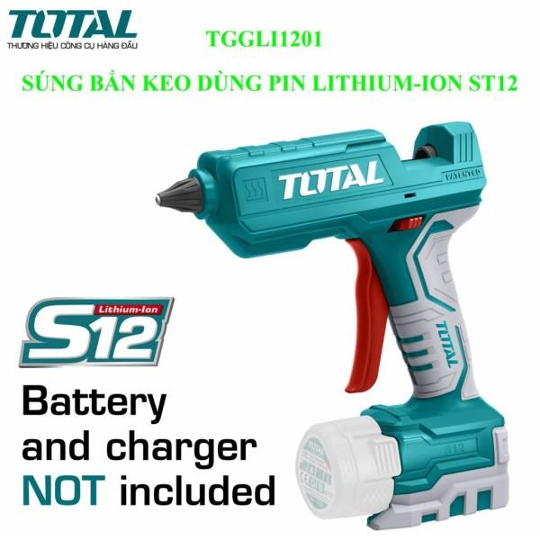 Súng bắn keo dùng pin Lithium-S12 TOTAL TGGLI1201 KHÔNG KÈM PIN VÀ SẠC