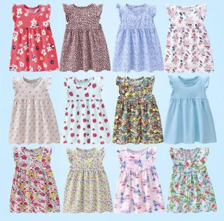Váy Bé Gái Cotton Tay Bèo Dáng Babydoll In Họa Tiết Nhí Nhiều Màu Dễ Thương Thời Trang Julykids Vay G10013 (Giao Ngẫu Nhiên) thumbnail
