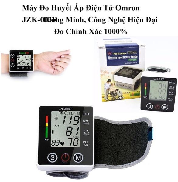 máy đo huyết áp omron JZK-003R Nhật Bản hoàn toàn tự động, độ chính xác cao trong lần đo đầu tiên giúp bạn theo dõi tình trạng huyết áp thuận tiện hơn nhập khẩu