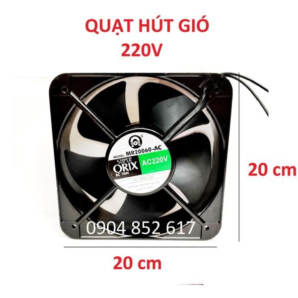 Quạt hút gió ORIX, thông gió, hút mùi 220V 20x20 cm
