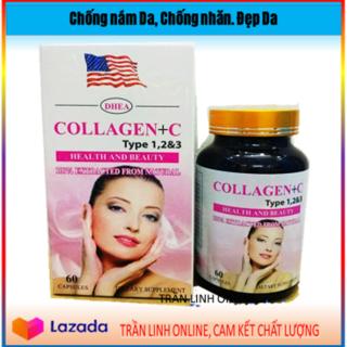 Collagen +C Type 123 Collagen C Đẹp Da Chống Lão Hóa - Hộp 60 viên (60NcTl hồng) thumbnail