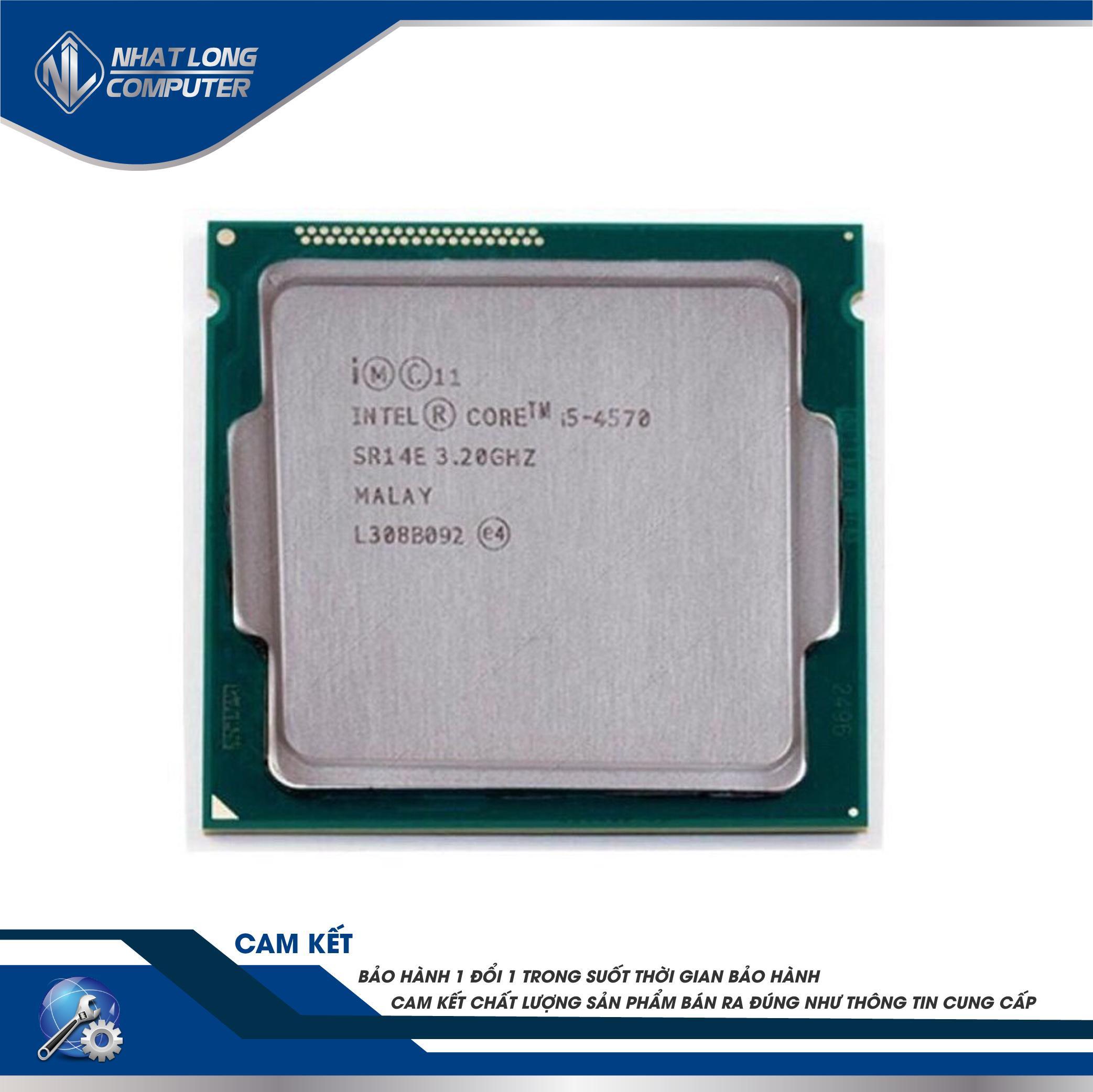 Giá CPU Intel® Core™ i5 4570, up to 3.6GHz socket 1150( 4 lõi, 4 luồng, SmartCache 6MB)