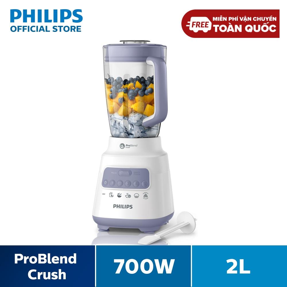 Máy xay sinh tố Philips HR2221/00 - Hàng Phân Phối Chính Hãng - Bộ 2 cối