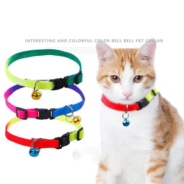 Vòng cổ 7 màu chuông nhỏ cho chó mèo