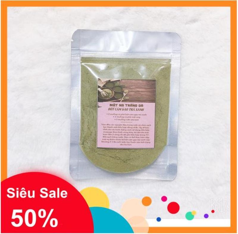 100 gr bột cám gạo trà xanh- Sạch mụn, trắng da giá rẻ