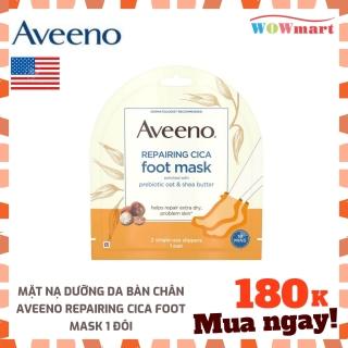Mặt nạ dưỡng da bàn chân Aveeno Repairing Cica Foot Mask 1 đôi - [MỸ] thumbnail