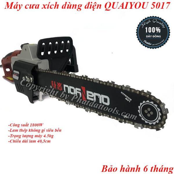 Máy cưa xích dùng điện QUAIYOU QY5017-Hàng nội địa cao cấp-1800W-Bảo hành 6 tháng