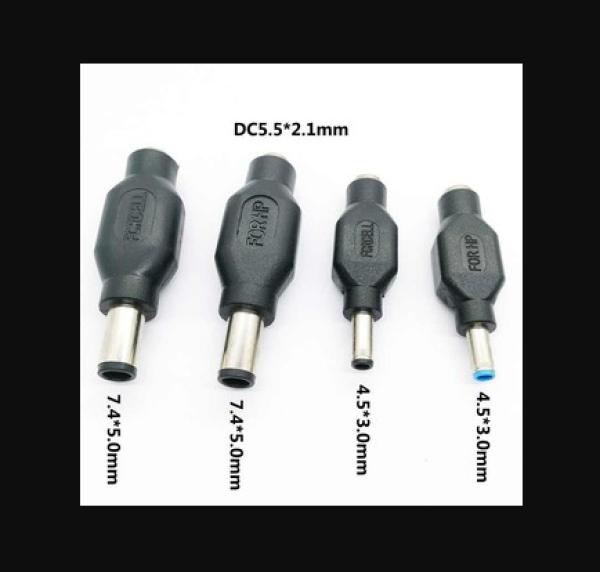 Bảng giá Combo 4 đầu sạc Dell HP kim Lớn và kim nhỏ - Dùng cho máy cấp nguồn Phong Vũ