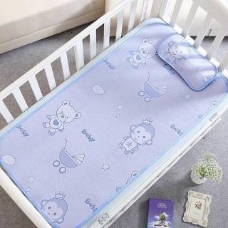 Bộ chiếu kèm gối lụa điều hòa cho bé được làm từ sợi mây lụa tổng hợp, siêu mềm mịn, an toàn cho trẻ thumbnail