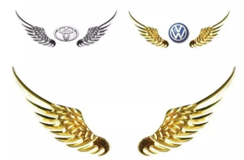 Đôi cánh thiên thần 3D dán trang trí logo hãng ô tô hàng loại 1