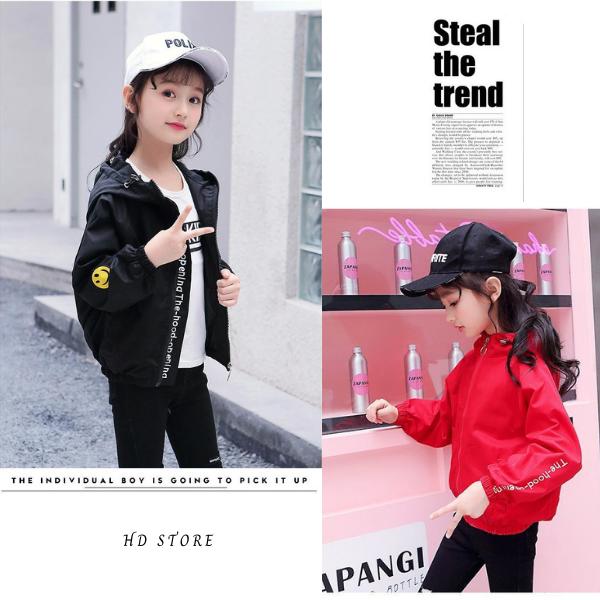 Giá bán áo khoác bé gái , áo gió bé gái dù 2 lớp unisex từ 5 đến 14 tuổi D211