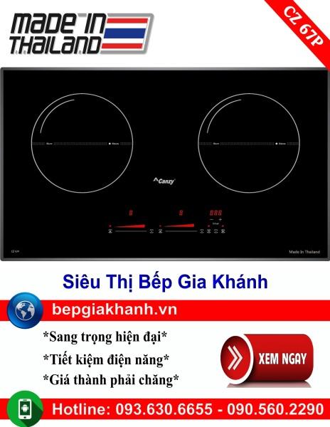 Bếp từ đôi Canzy CZ 67P nhập khẩu Thái Lan, bếp từ, bếp điện từ, bếp từ đôi, bếp điện từ đôi, bếp từ giá rẻ, bếp điện từ giá rẻ, bếp từ đơn, bep tu don, bep tu
