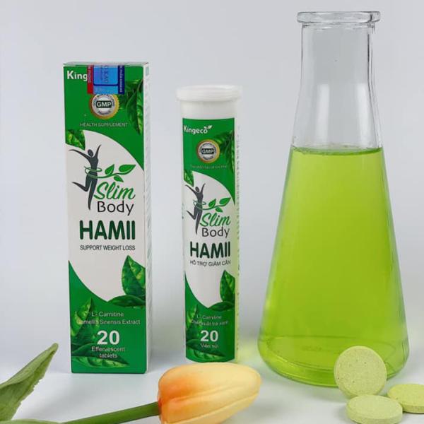 Slim Hamii Body Viên sủi giảm cân mẫu mới 2020 hộp 20 viên sủi không tác dụng phụ an toàn cho sức khỏe chiết xuất thiên nhiên cao cấp