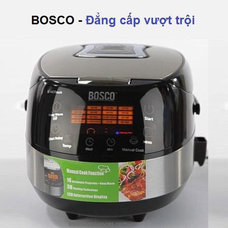 Không Nên Bỏ Lỡ Giá Sốc với NỒI CƠM ĐIỆN TỬ 3D BOSCO BMC900X ( Màu đen BH 12 Tháng)