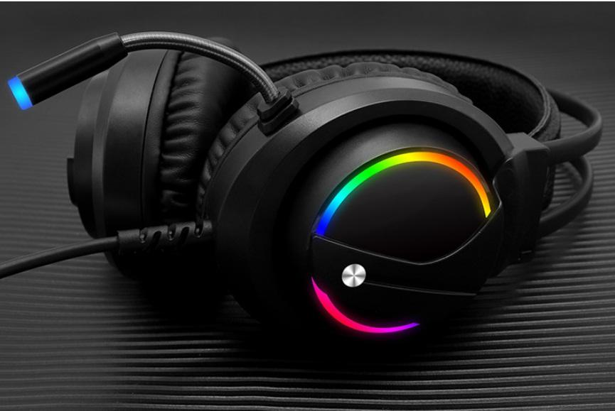 chuột gaming, tai nghe gaming, tai nghe game thủ - Tai phone có mic cho máy tính, Chất lượng cao cấp, Âm thanh sống động, Siêu trầm K1 LED RGB