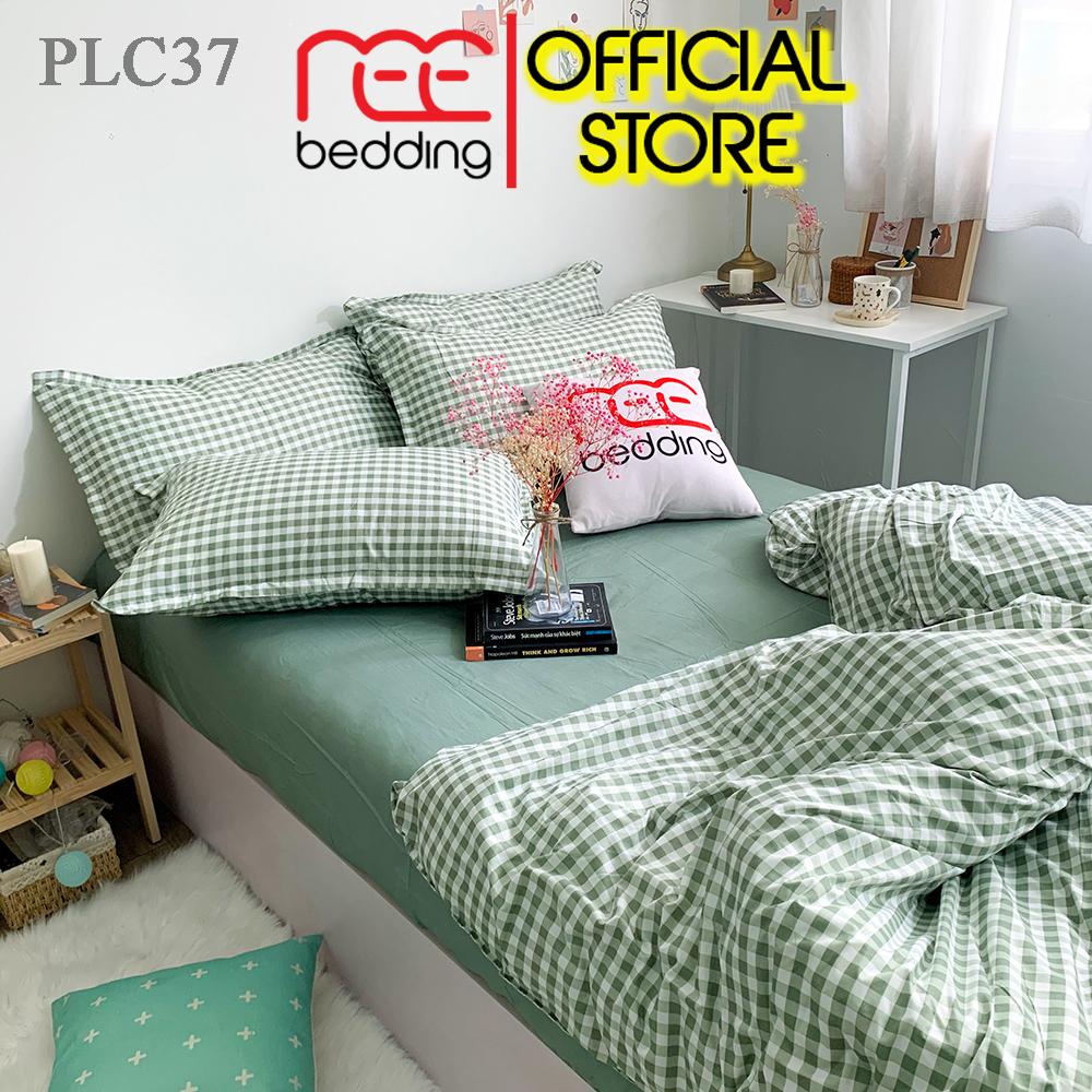 Bộ Chăn Ga Gối Poly Cotton REE Bedding PLC37 Caro Xanh đủ Size Giường Nệm 1m2, 1m4, 1m6, 1m8, 2m Siêu Ưu Đãi tại Lazada