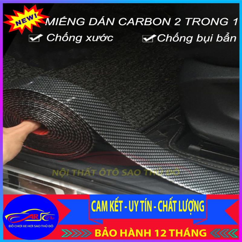 Nẹp cao su vân cacbon cao cấp 5D chống xước ô tô