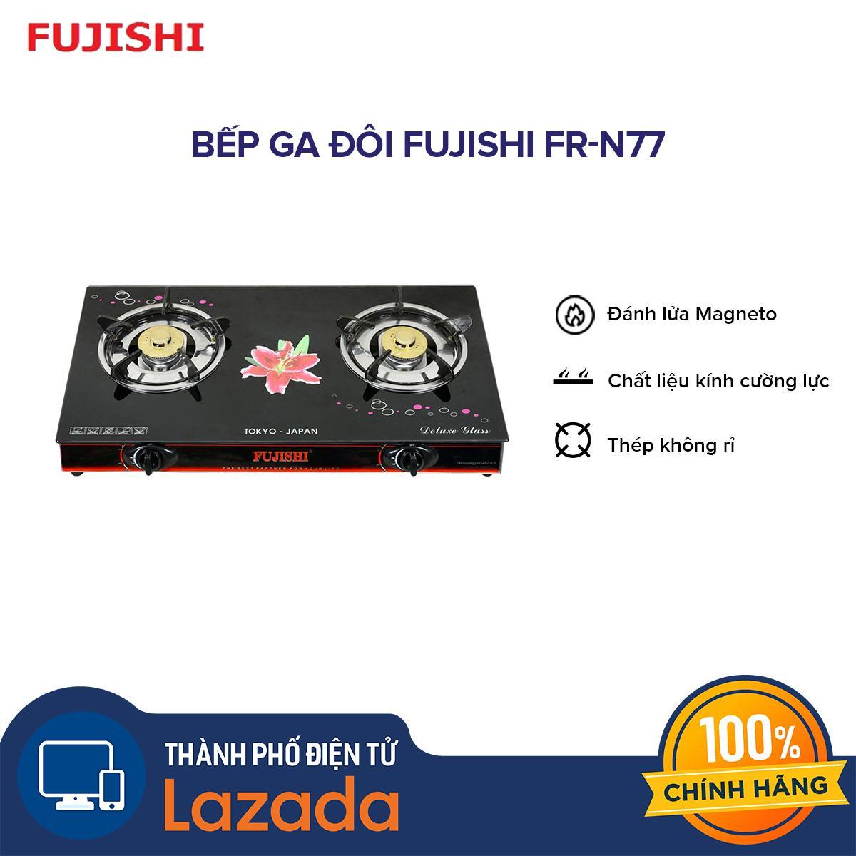 Bếp ga đôi Fujishi FR-N77
