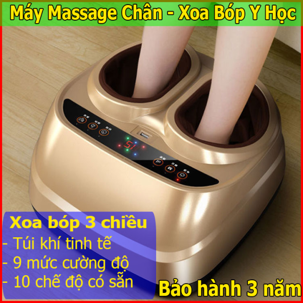 Máy Massage Chân đa năng công nghệ 4.0 - Máy massage bàn chân xoa bóp y học, máy mát xa chân 5 chức năng giảm hoàn toàn mệt mỏi