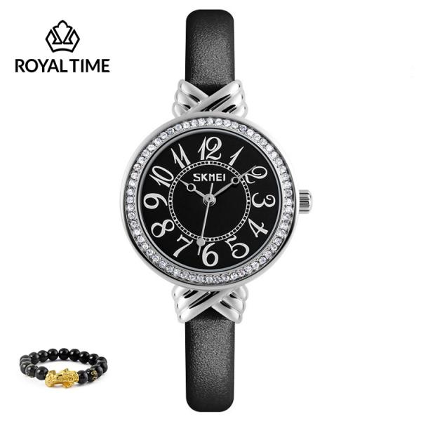 Đồng hồ nữ SKMEI 9162 chính hãng dây da cao cấp SK9162 - Fullbox - Tặng gói bảo hành 12 tháng - tặng vòng tay cao cấp - gói hàng cẩn thận đúng mẫu